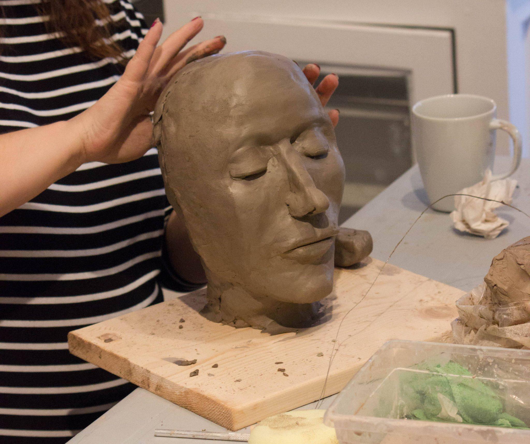 Cours sculpture avec André Desjardins