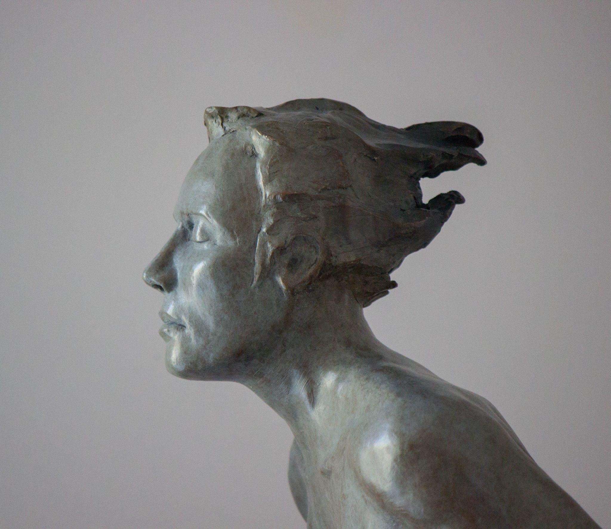 Andre Desjardins bronze sculpture