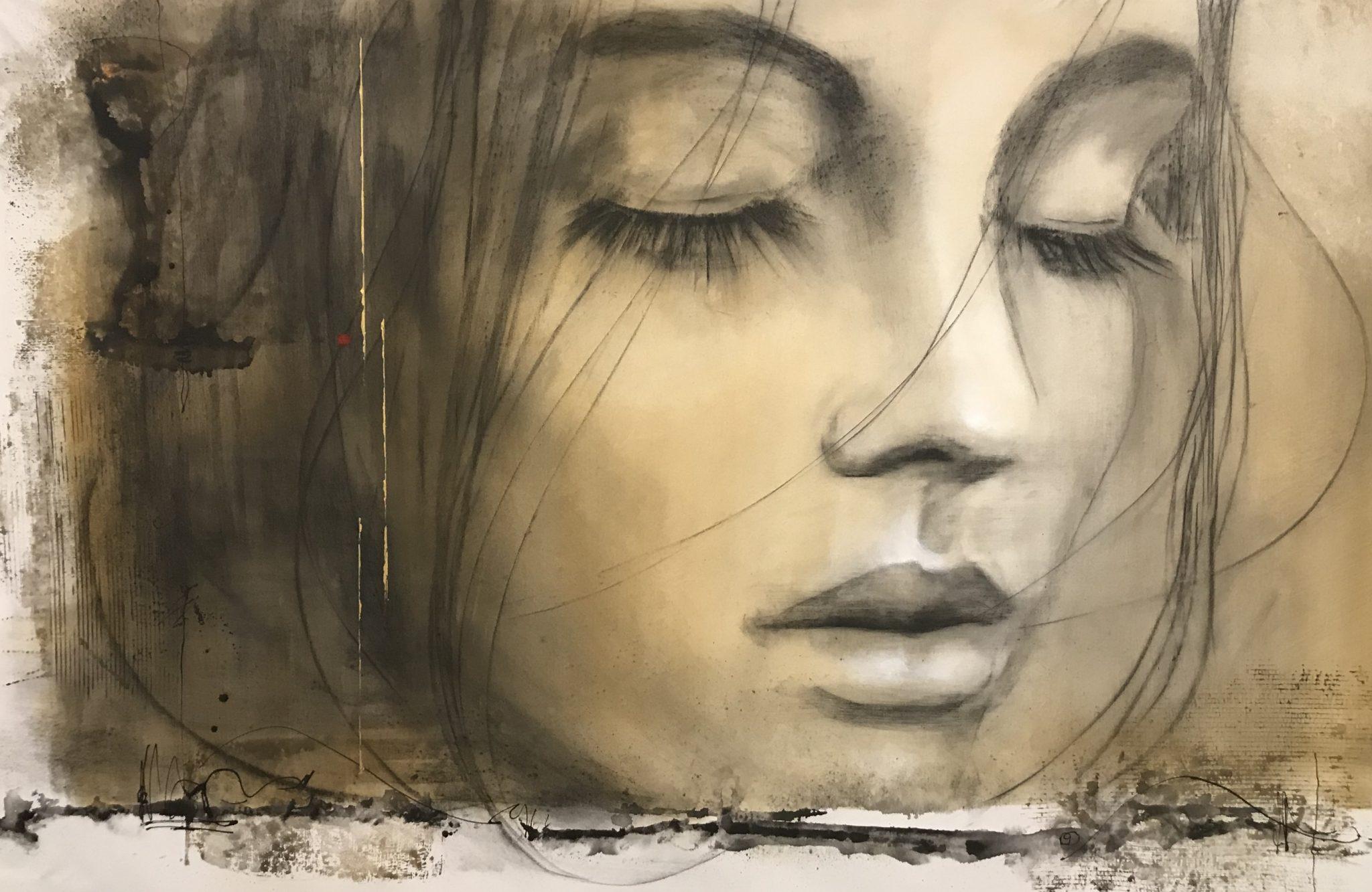 André Desjardins-Peintre-Techniques mixtes sur toile