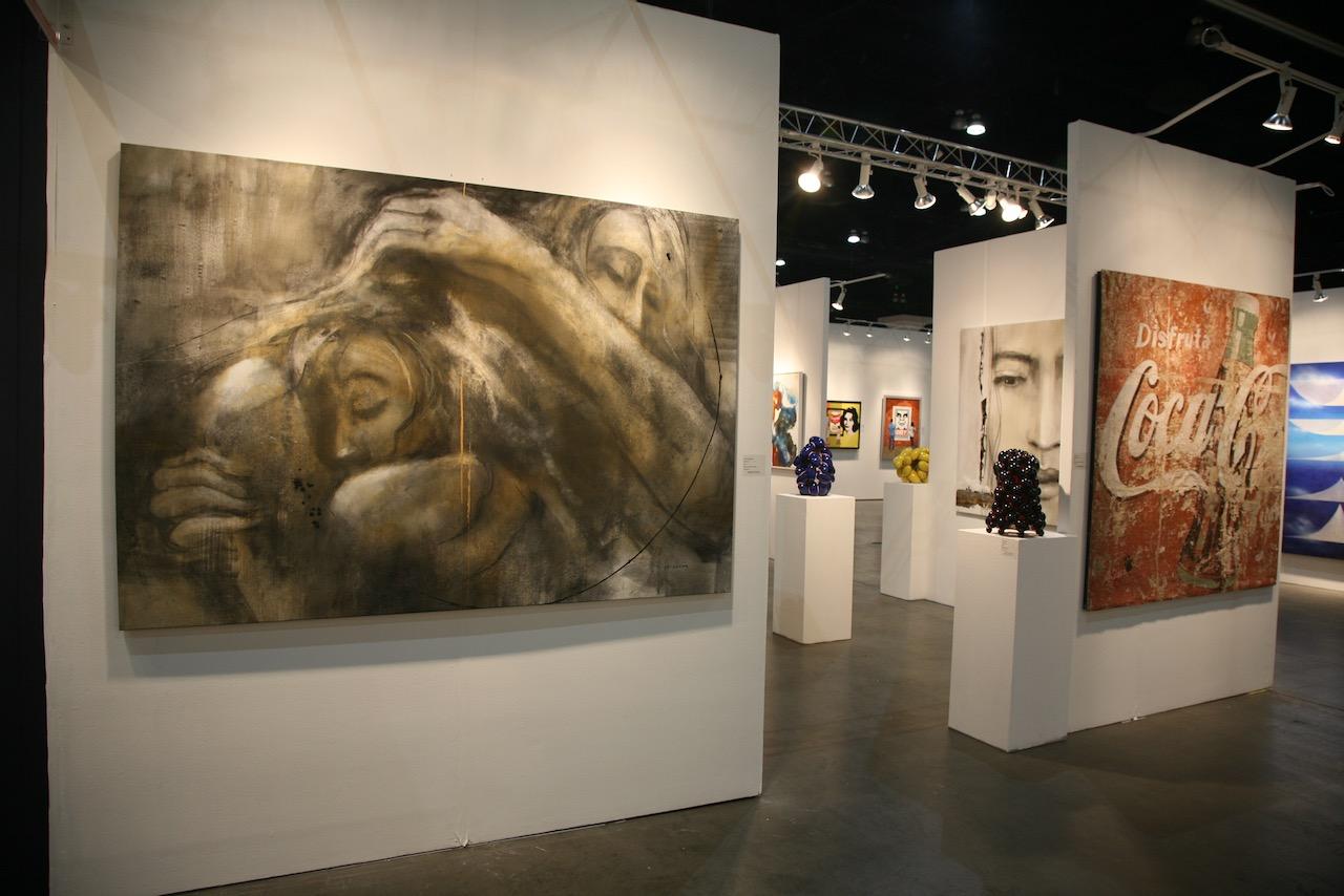 LA Art Show - tableaux de Desjardins en exposition